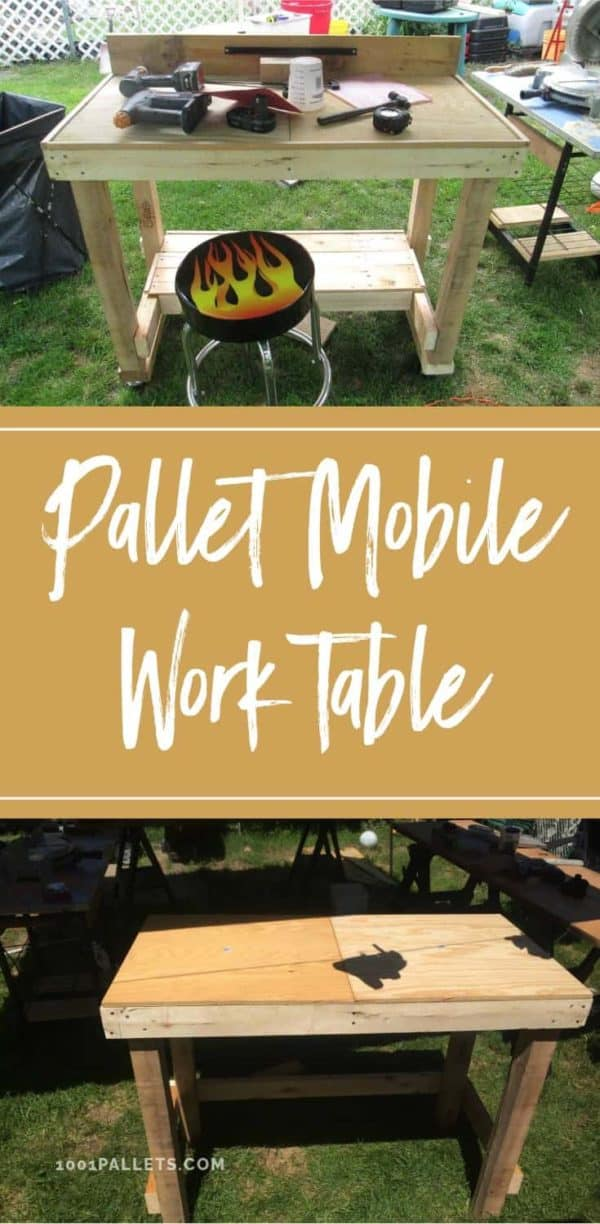 Mobile Pallet Work Table