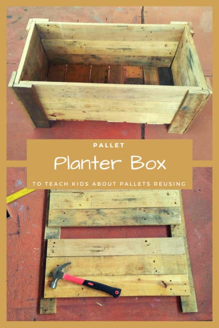 Pallet Planter Box to Teach Kids About Pallets Reusing