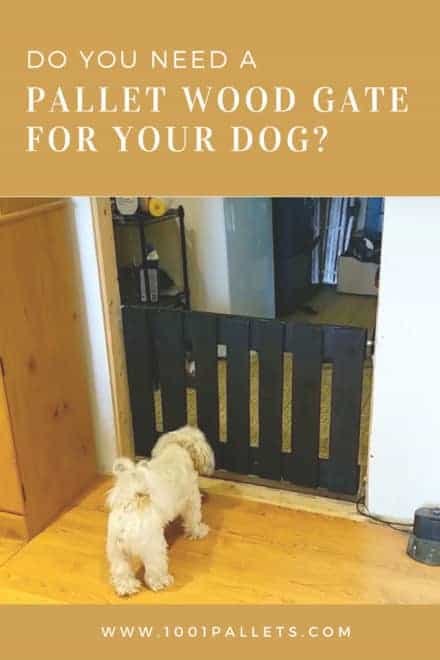 Pallet Wood Gate for the Dog