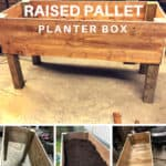 Raised Pallet Planter Box
