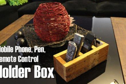 Diy: Pallet Mobile Phone, Pen & Remote Control Holder Box
