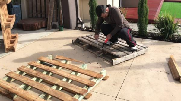 Diy: Planter Box Using Reclaimed Pallet Wood Pallet Boxes & Chests