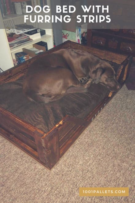 Dog Bed with Furring Strips