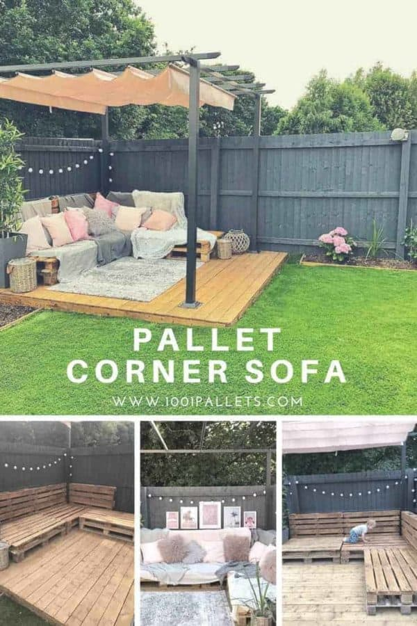 Diy Pallet Couches Outdoor Pallet Furniture 1001 Pallets