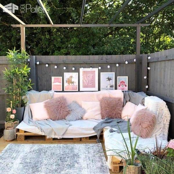 Easy Pallet Corner Sofa Lounges & Garden Sets Pallet Sofas & Couches