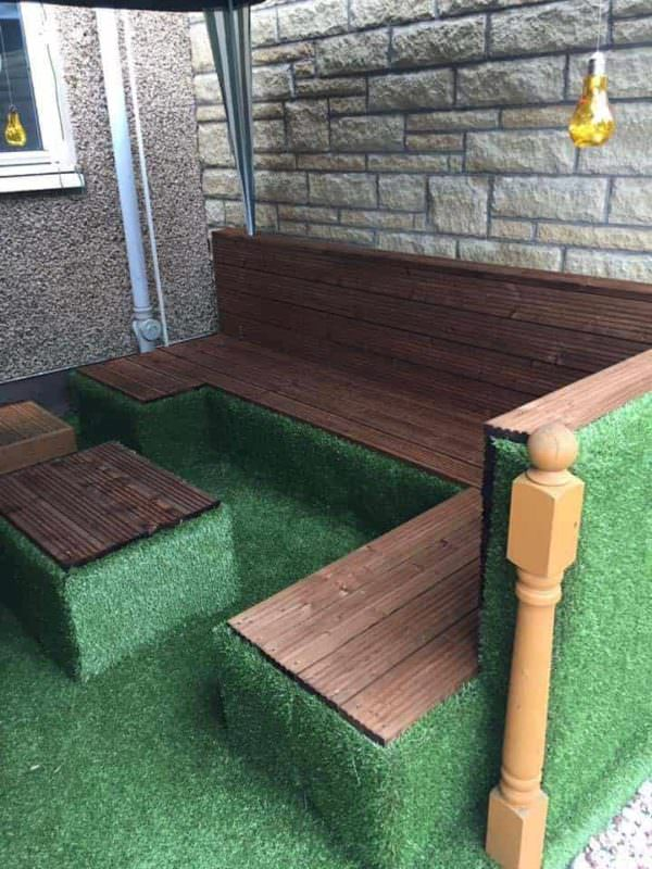 How to Transform Your Old Deck with Upcycled Pallets Lounges & Garden Sets Pallet Terraces & Pallet Patios