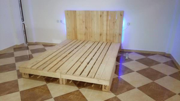 King Size Bed from 2 Long Pallets