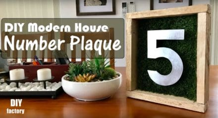 Modern House Pallet Number Plaque