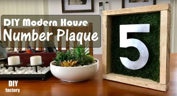 Modern House Pallet Number Plaque DIY Pallet Video Tutorials Pallet Home Accessories