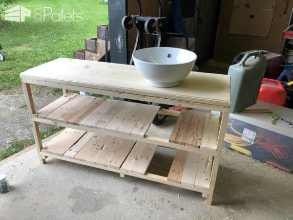 Custom Pallet Bathroom Vanity • 1001 Pallets