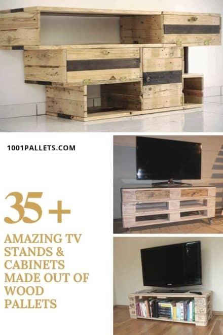 35 Amazing TV Stands & Cabinets Made Out Of Wood Pallets