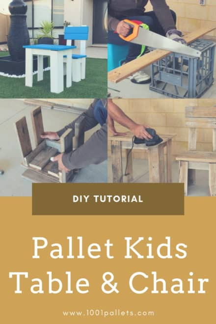 Diy: Pallet Kids Table & Chair