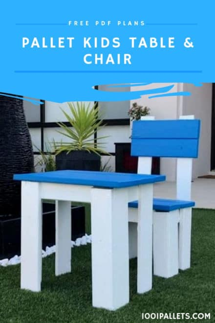 Pallet Kids Table & Chair