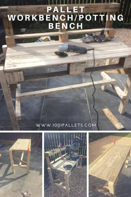 Pallet Workbench/Potting Bench