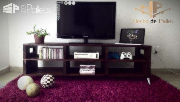 35 Amazing Tv Stands & Cabinets Made Out Of Wood Pallets Pallet TV Stands & Racks