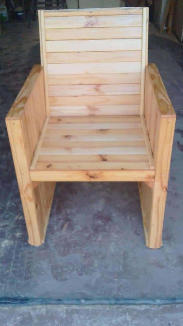 Chair From Reclaimed Wood Pallets Pallet Benches, Pallet Chairs & Stools