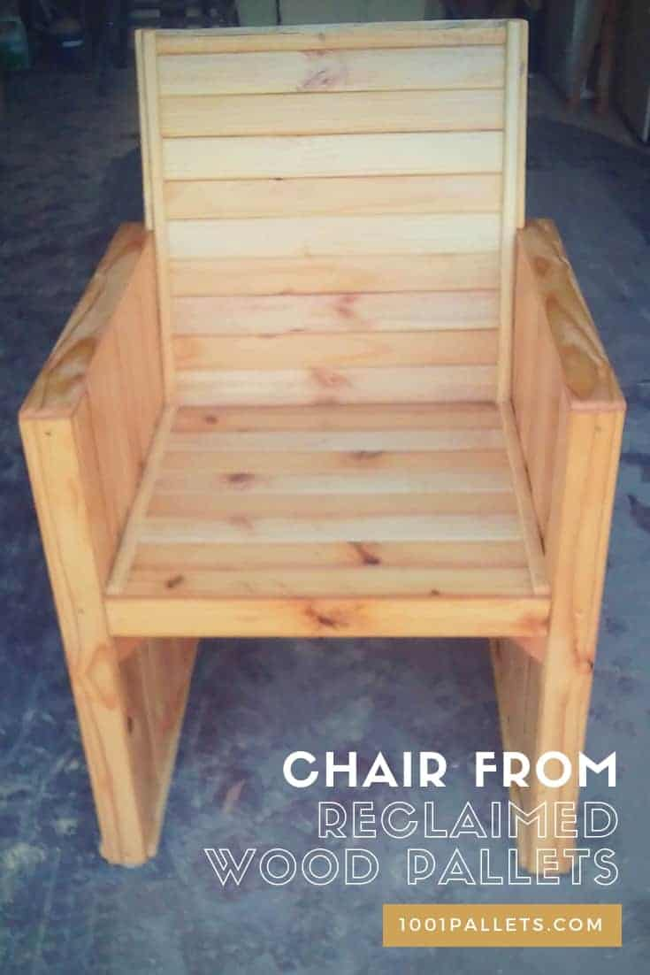Chair From Reclaimed Wood Pallets • 10 Pallets