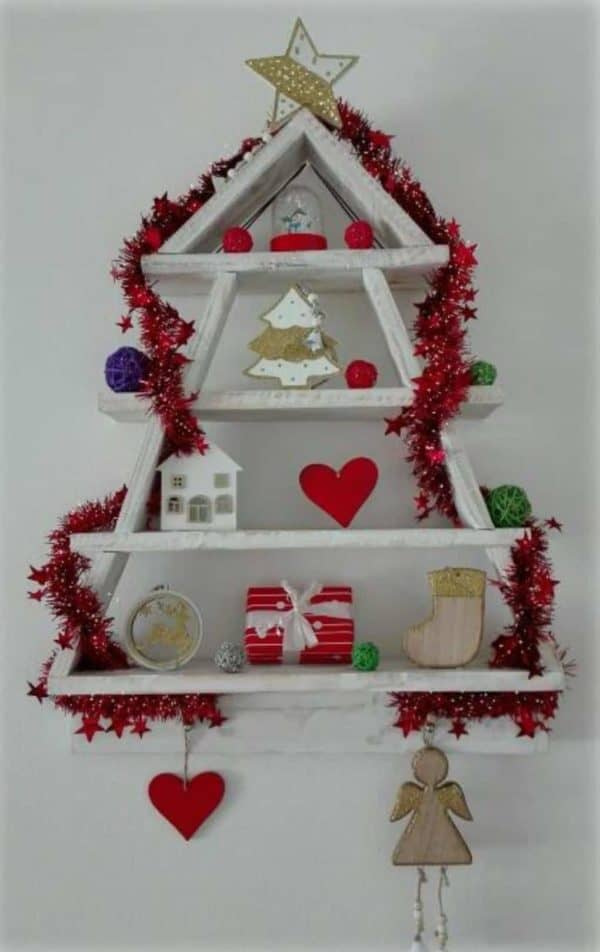 One Wooden Pallet Xmas Tree Pallet Wall Decor & Pallet Painting