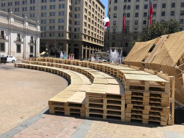 Stage & Auditorium Made of Wood Pallets Other Pallet Projects