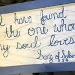 50-inch Pallet Sign: Song of Solomon 3:4