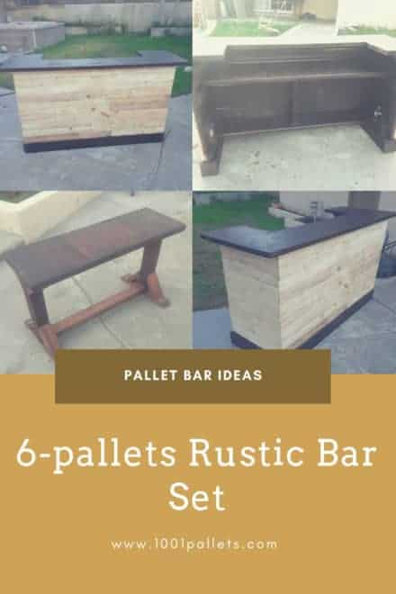 6-pallets Rustic Bar Set