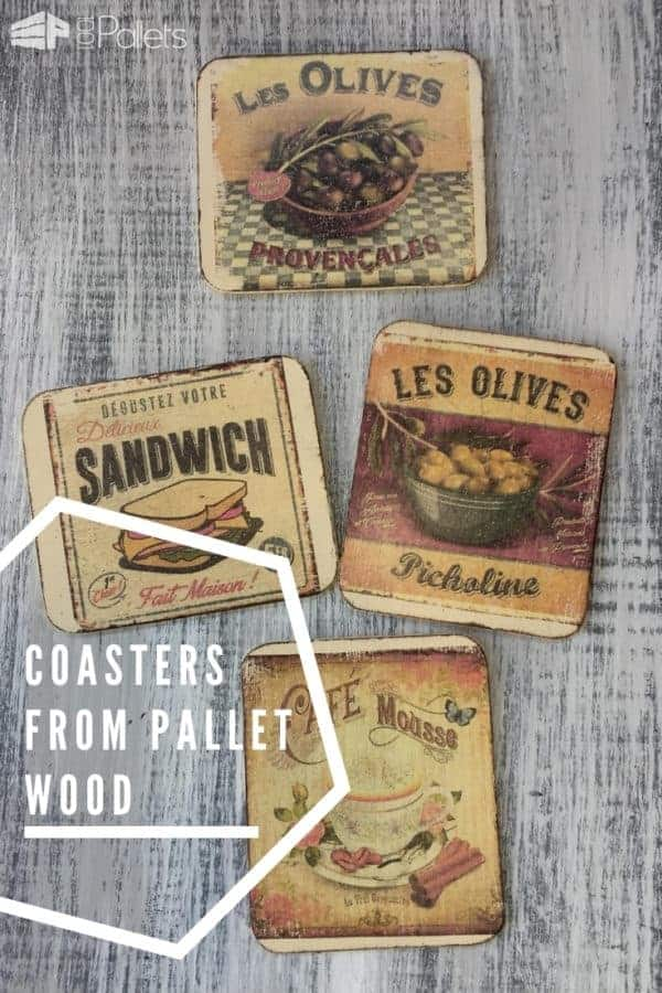 Make Coasters from Pallet Wood