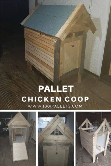 Reclaimed Pallet Chicken Coop