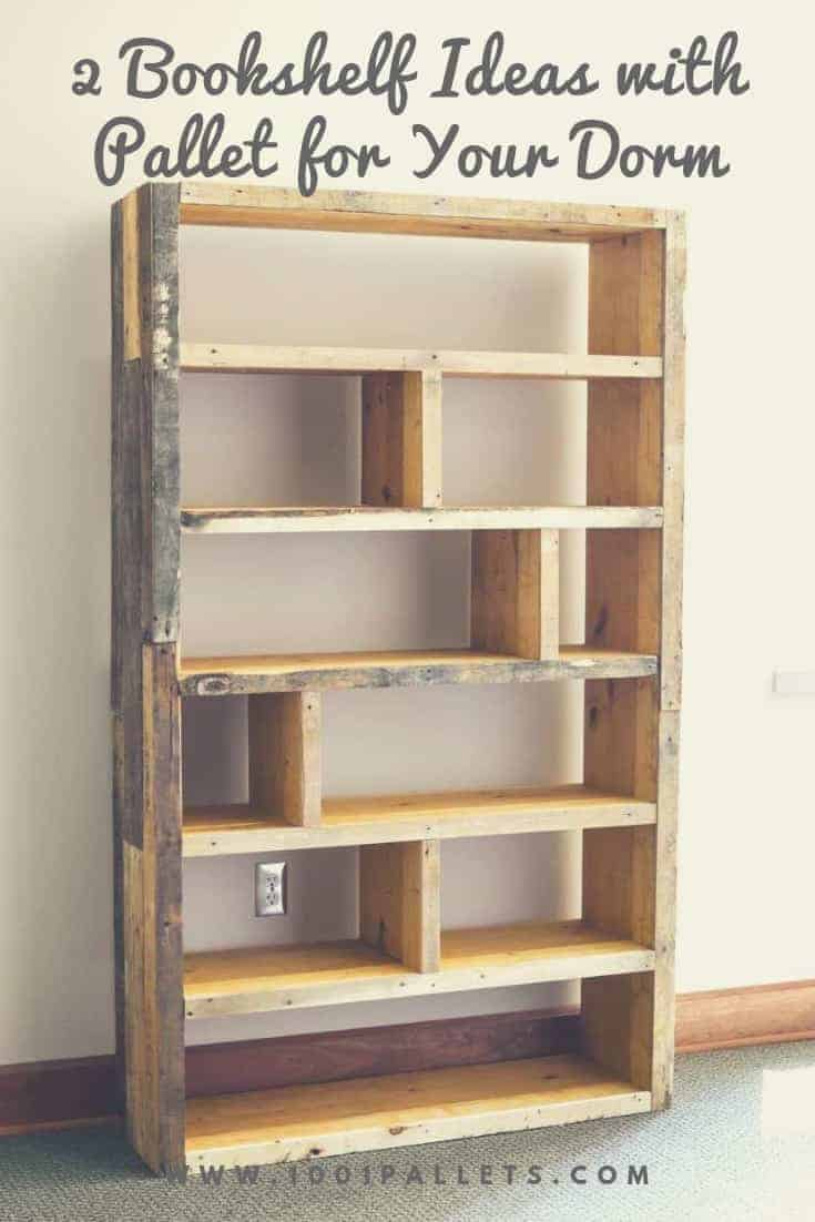 2 Bookshelf Ideas With Pallet For Your Dorm 1001 Pallets