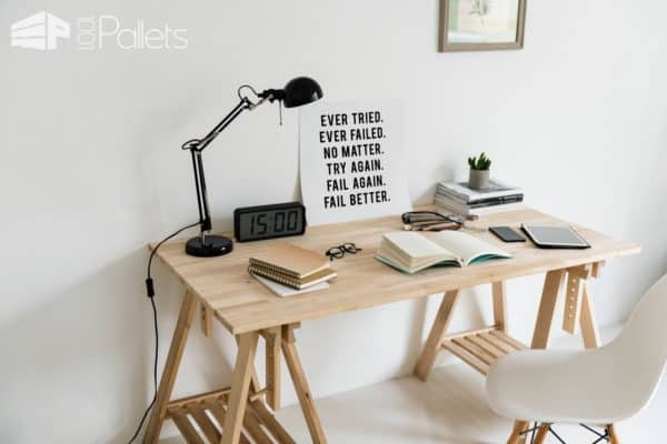 A Step by Step Guide for Making a Study Pallet Table DIY Pallet Tutorials Pallet Desks & Pallet Tables