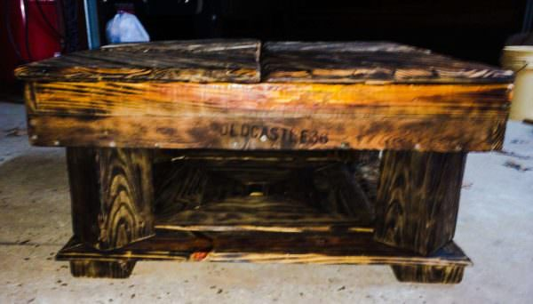 Charred Pallet Coffee Table Pallet Coffee Tables