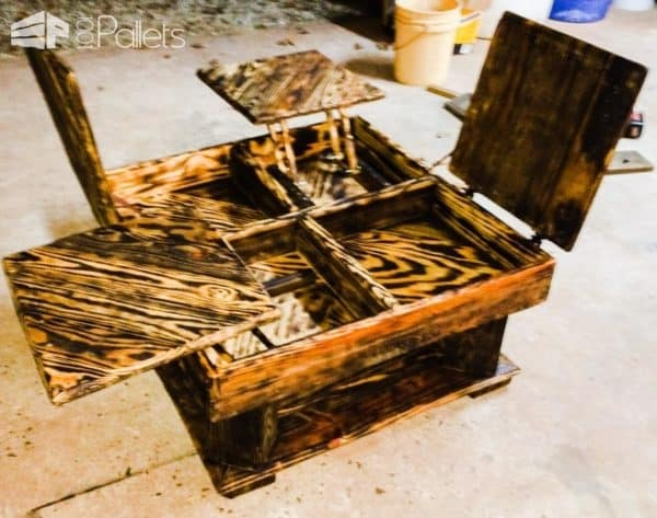 Charred Pallet Coffee Table