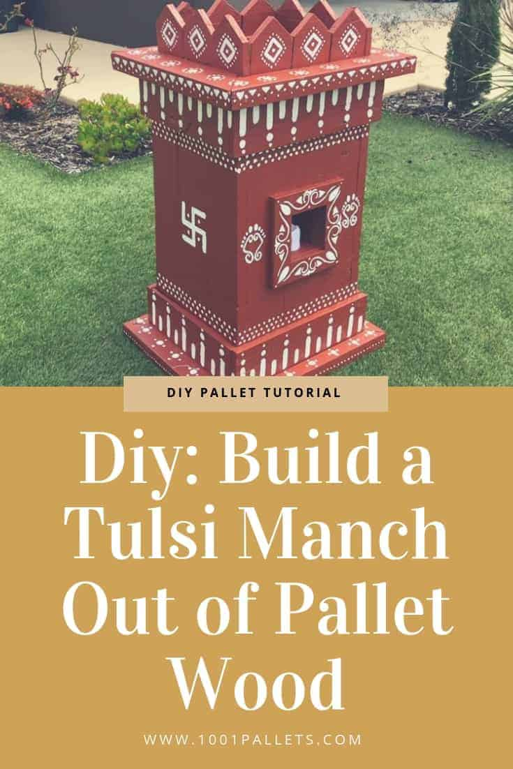 Diy Build A Tulsi Manch Out Of Pallet Wood 1001 Pallets
