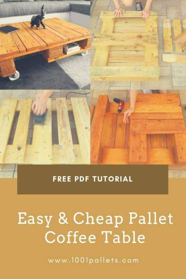 Easy & Cheap Pallet Coffee Table English Tutorials Furniture