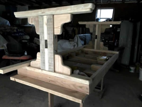 Pallet Farmhouse Table and Benches Pallet Benches, Pallet Chairs & Stools Pallet Desks & Pallet Tables
