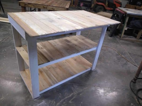 Pallet Wood Bar with Three Shelves Pallet Bars
