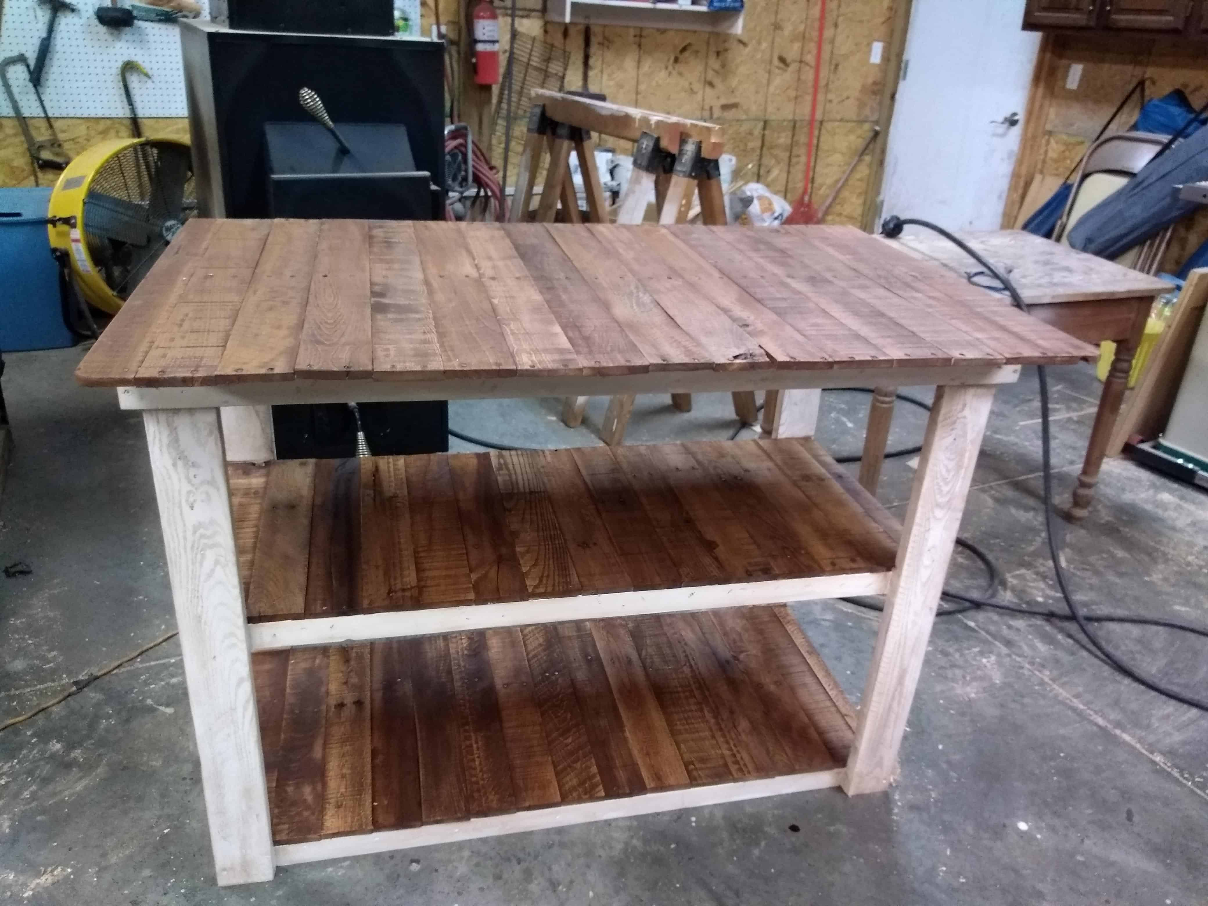 Pallet Wood Bar With Three Shelves 1001 Pallets