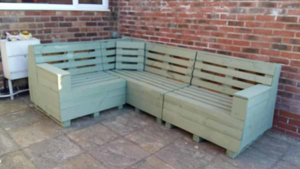 Garden Pallet Corner Bench Lounges & Garden Sets Pallet Benches, Pallet Chairs & Stools