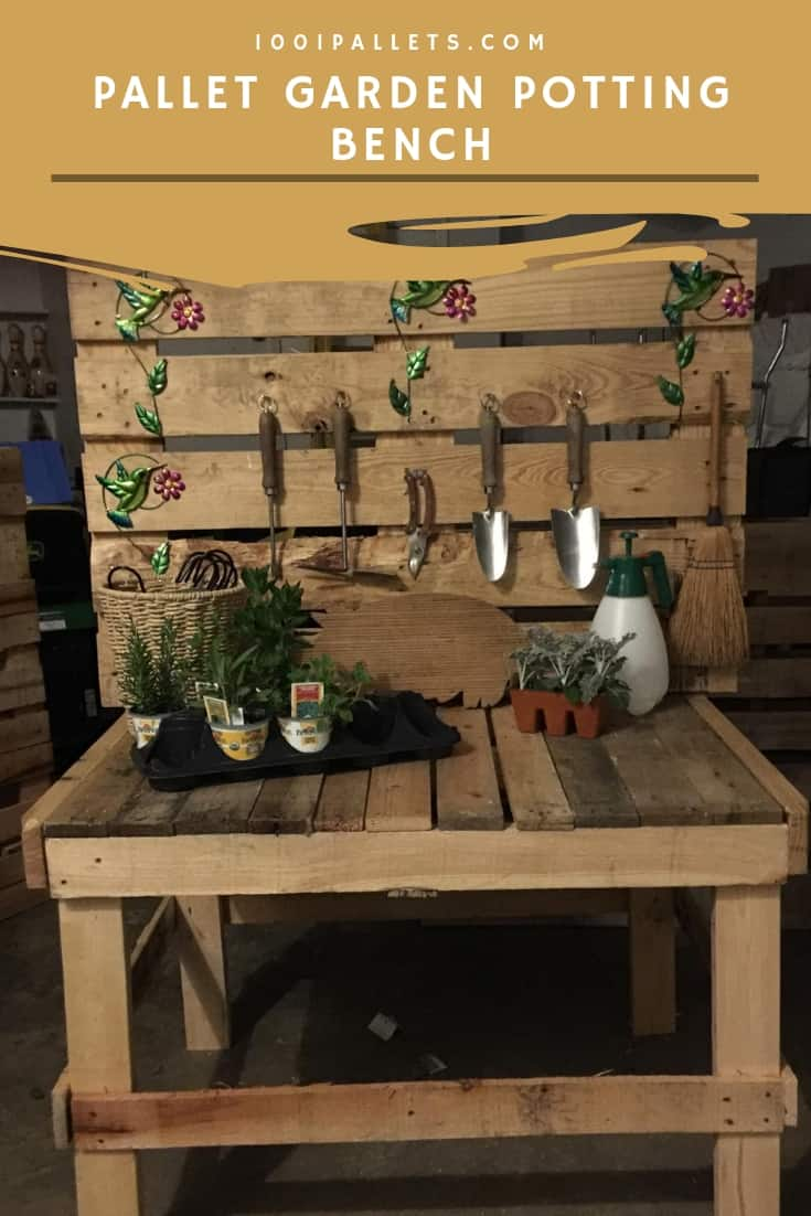 Pallet Garden Potting Bench Planter Chair 1001 Pallets