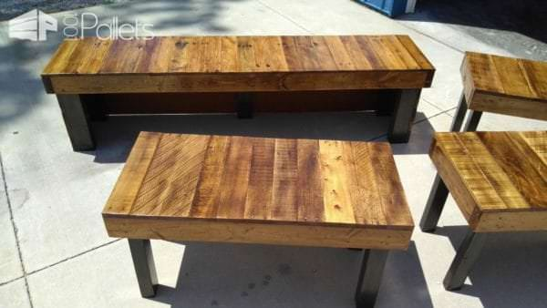 Coffee Shop Pallet Wood Benches Pallet Benches, Pallet Chairs & Stools