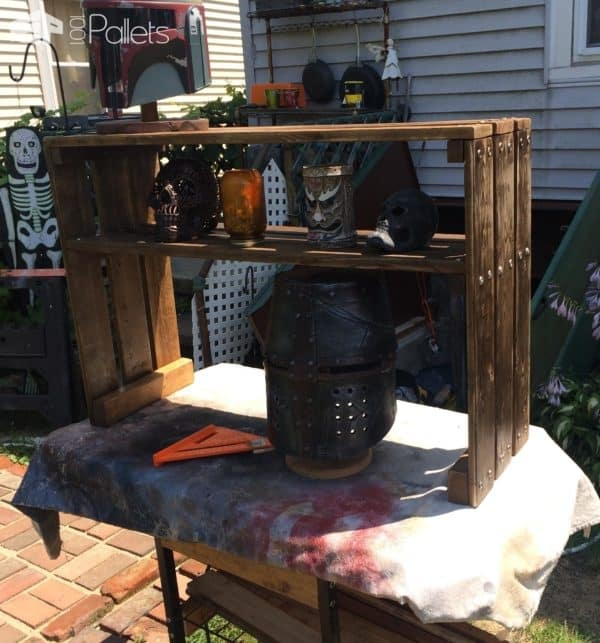 Pallet Cosplay Builds Display Hutch Pallet Shelves & Pallet Coat Hangers