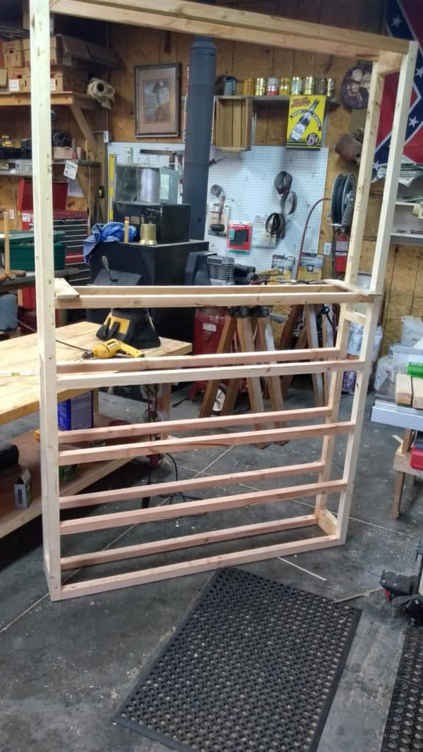 Red Mahogany Pallet Bookcase Pallet Bookcases & Bookshelves
