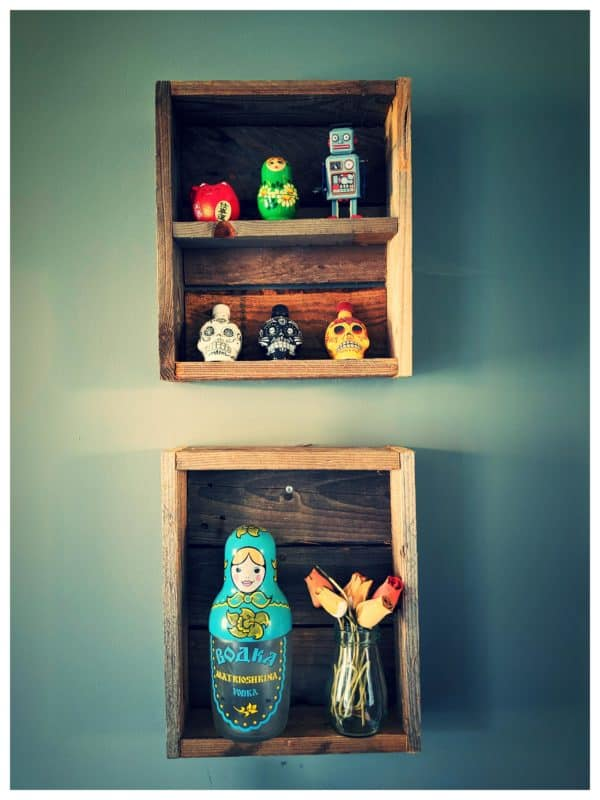 Super Simple Display Cabinet from Pallet Wood Scraps Pallet Bookcases & Bookshelves Pallet Shelves & Pallet Coat Hangers
