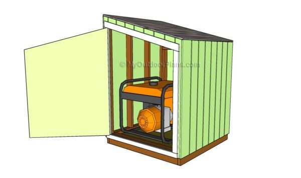 How To Build a Portable Generator Enclosure DIY Pallet Tutorials Pallet Sheds, Cabins, Huts & Playhouses