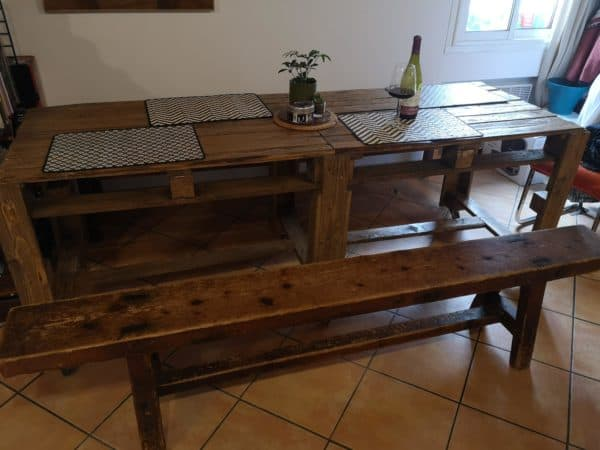 4 Pallets Dining Table Pallet Desks & Pallet Tables