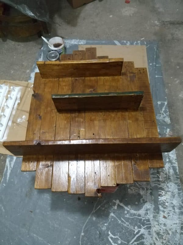 How I Made a Wooden Pallet Shelf from a Single Pallet Pallet Shelves & Pallet Coat Hangers
