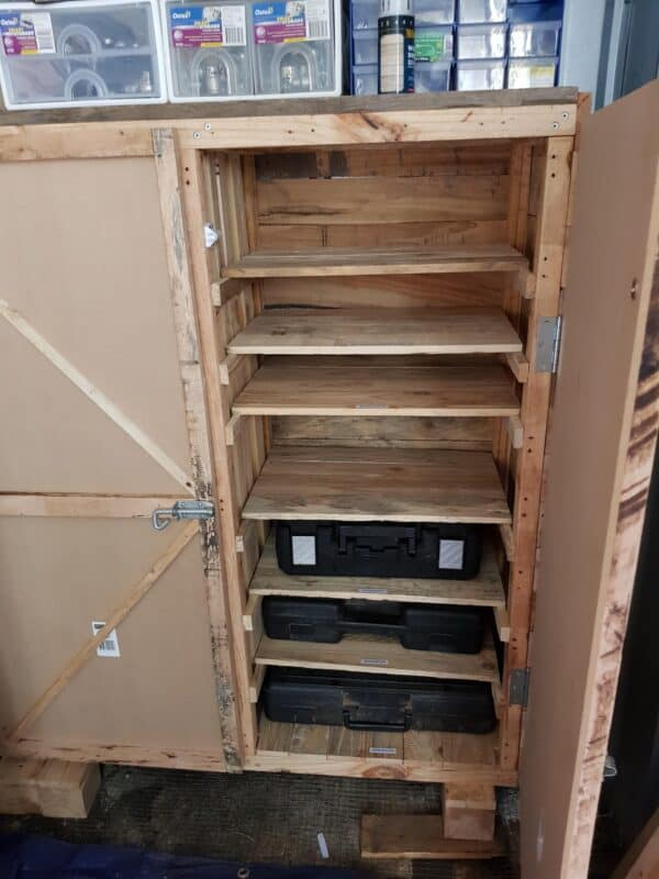 Pallet Tool Cabinet Workshop and tools