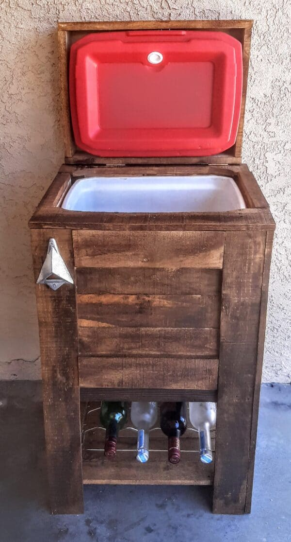 Rustic Pallet Ice Chest Pallet Boxes & Chests