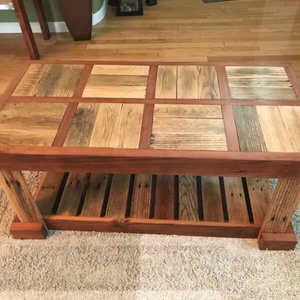 Reclaimed Pallet Wood Coffee Table Pallet Coffee Tables