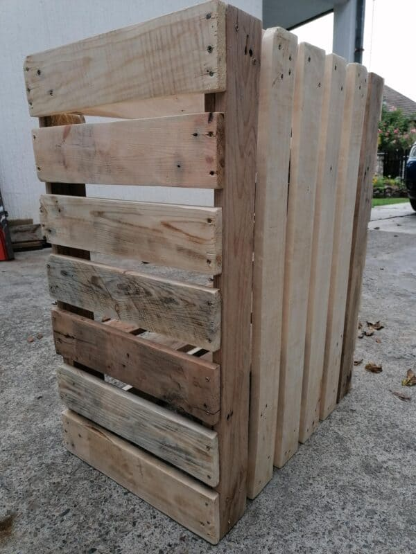 How I Made An Outdoor Shoe Rack From Pallets Pallet Boxes & Chests Pallet Shelves & Pallet Coat Hangers