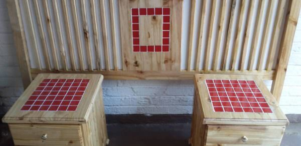 How I Made This Pallet Headboard & Nightstand Pallet Beds, Pallet Headboards & Frames